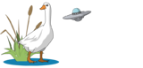 Goose and UFO